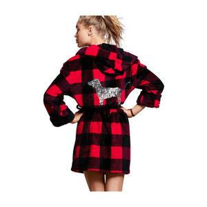 *BLING* VICTORIA'S SECRET Red Buffalo Plaid Robe